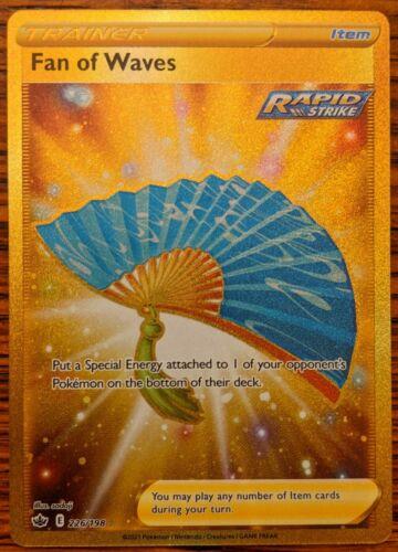 Fan of Waves Gold Secret Rare 226/198 Chilling Reign Sword & Shield Pokemon