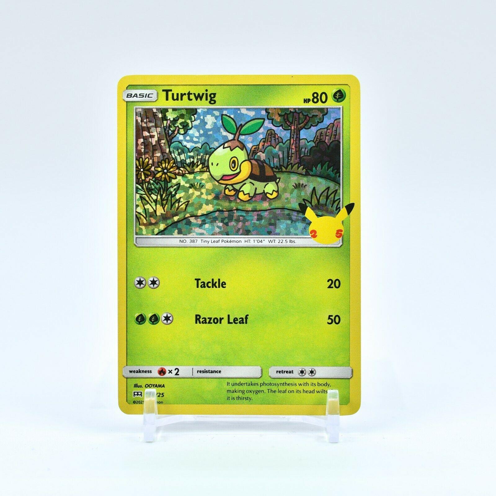 Turtwig - 4/25 Mcdonald's 25th Anniversary Holo Starter Pokemon - NM/MINT