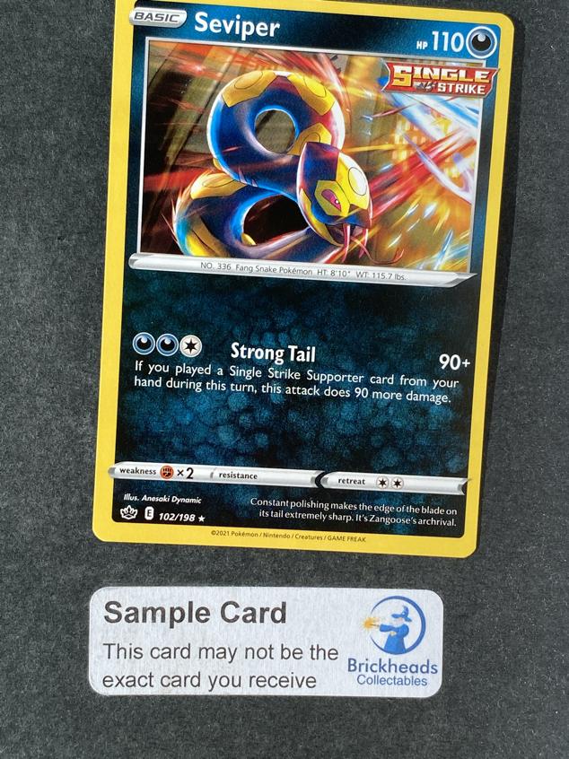 Seviper 102/198 Rare   SWSH: Chilling Reign   Pokemon Card