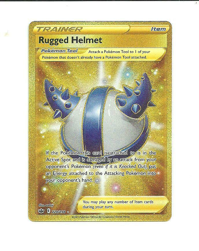 Pokemon : SWSH CHILLING REIGN Rugged Helmet 228/198 SECRET RARE #1a