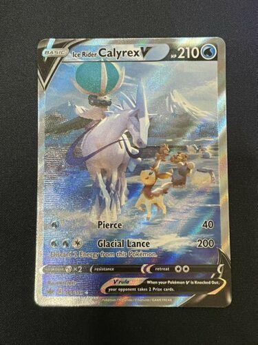 ICE RIDER CALYREX V 164/198 *Alternate Art* Chilling Reign Pokemon Card NM/M