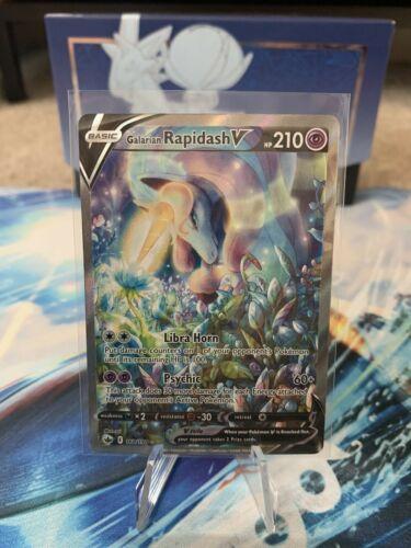 Pokémon Chilling Reign Galarian Rapidash V Alt Alternate Full Art 168/198 NM TCG