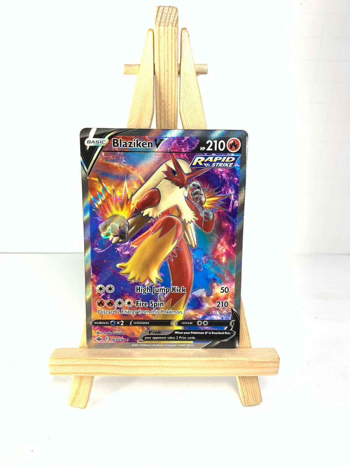 Pokemon - BLAZIKEN V 161/198 - Chilling Reign - Ultra Rare - NM
