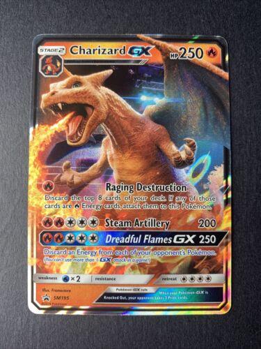 Pokemon Charizard GX SM195 -ULTRA RARE HOLO PROMO CARD Detective Pikachu NM