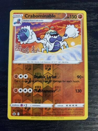 Crabominable 085/198 Chilling Reign Reverse Holo Pokemon Card NM