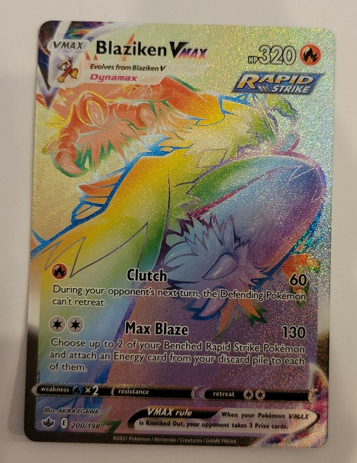 Blaziken Vmax Rainbow Chilling Reign 200/198