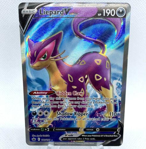 Pokemon - Liepard V 180/198 Chilling Reign Ultra Rare Full Art - Holo Card - NM