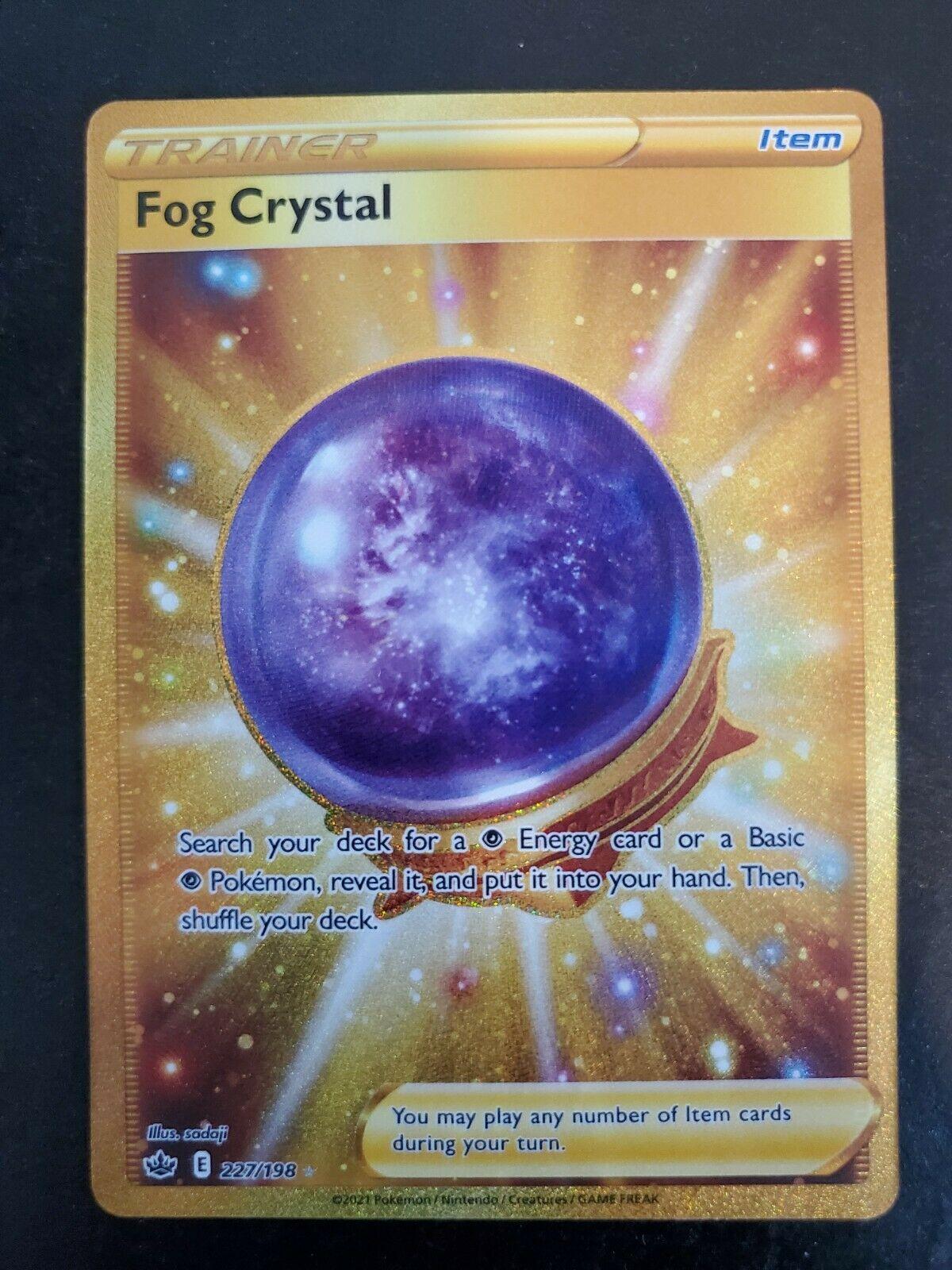 Fog Crystal 227/198 Gold Secret Rare Pokemon TCG Chilling Reign