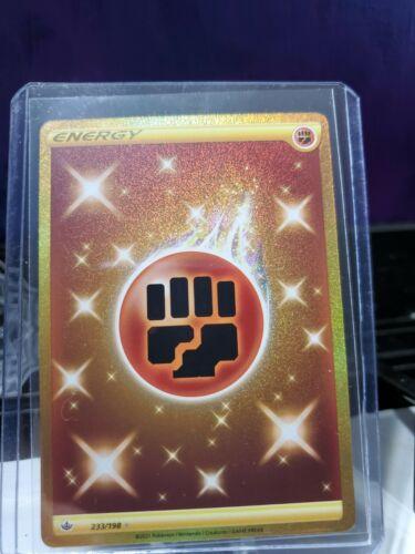 Pokemon Chilling Reign Fighting Energy GOLD SECRET RARE Card 233/198 Mint / NM