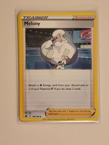 x4 Melony 146/198 Uncommon Pokemon Chilling Reign Playset - NM/M 4x