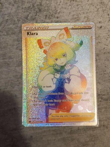 Pokemon Chilling Reign Klara Full Art 217/198 Rainbow Secret Rare