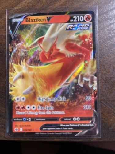Blaziken V Full Art 020/198 Pokemon TCG Chilling Reign