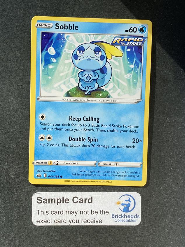 Sobble 041/198 Common   SWSH: Chilling Reign   Pokemon Card