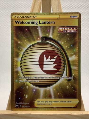 Pokemon Welcoming Lantern 230/198 Gold Secret Rare Chilling Reign NM/M