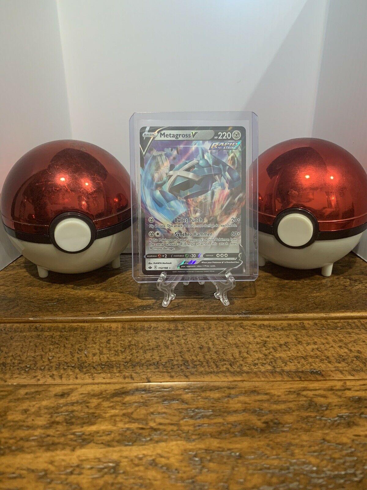 Pokemon Chilling Reign Metagross V Full Art 112/198 - Condition NM/M