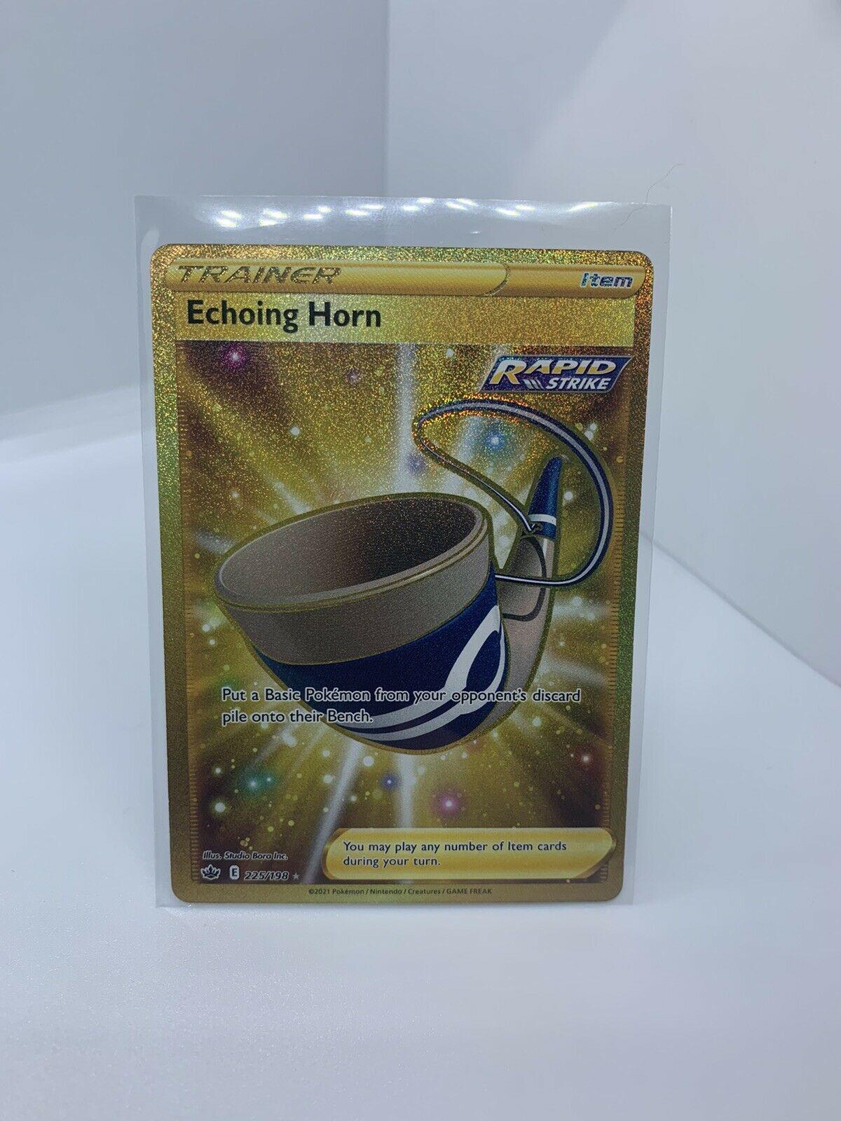 Echoing Horn Secret Rare Gold - 225/198 Chilling Reign Trainer