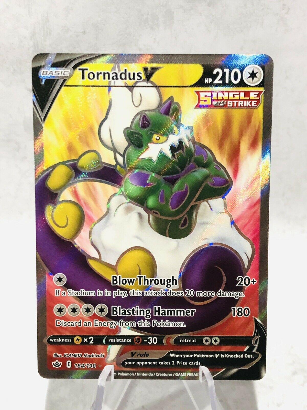 Tornadus V - Chilling Reign 184/198 - Full Art Rare Holo Pokemon Card - MINT/NM