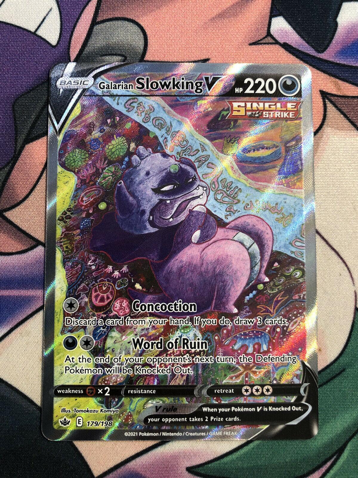 Pokemon Chilling Reign - Galarian Slowking V Alternate Art 179/198 NM