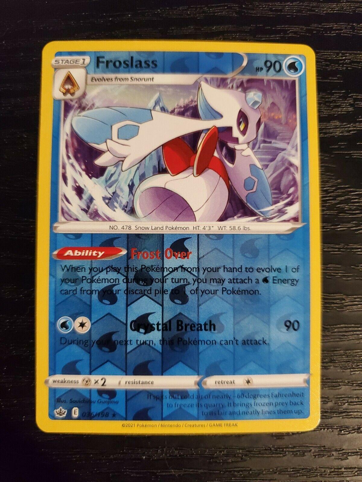 Froslass 036/198 Chilling Reign Reverse Holo Pokemon Card NM