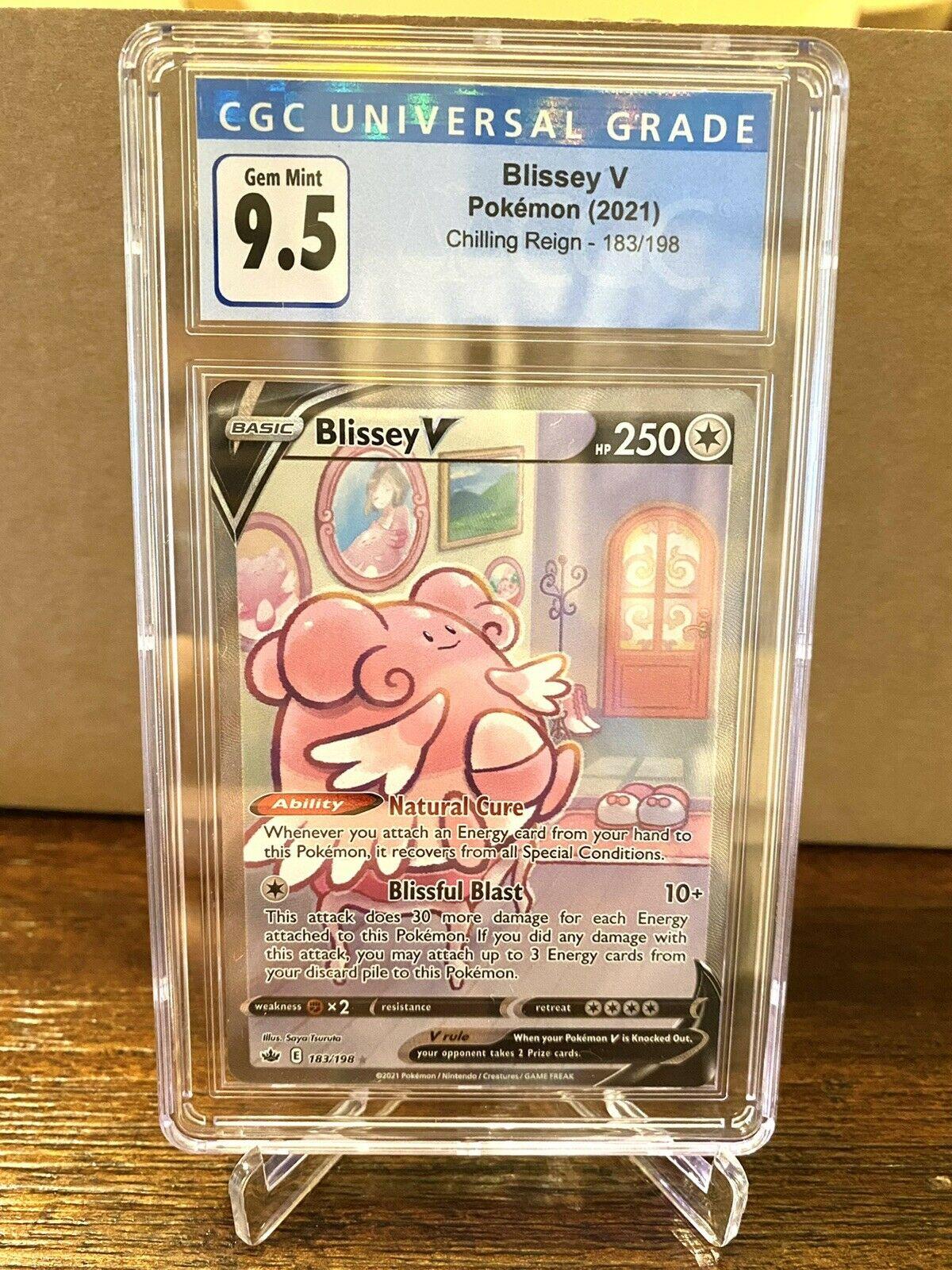 Pokemon CGC 9.5 (PSA 10) Blissey V Alternate Art 183/198 Chilling Reign
