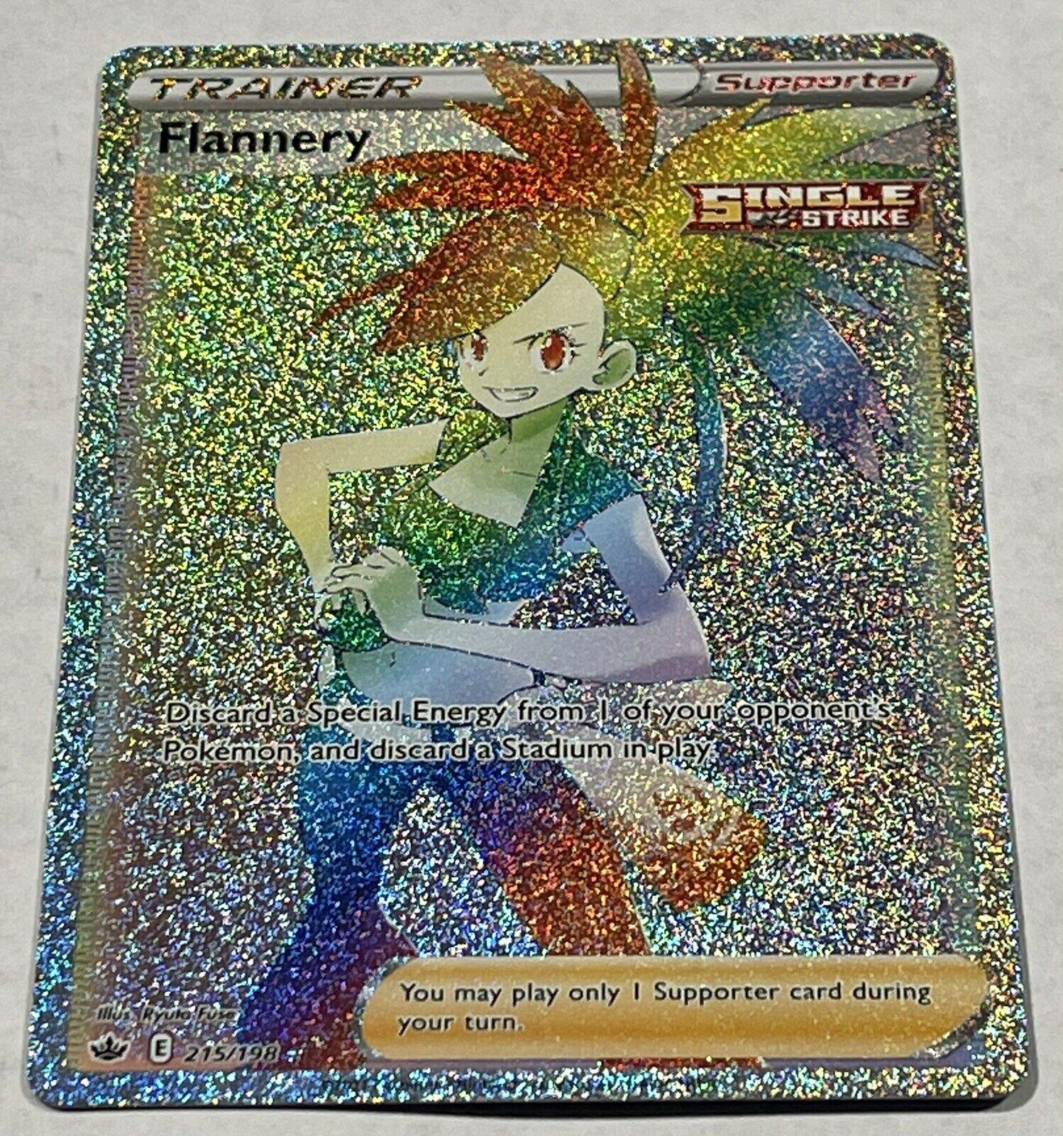 Flannery 215/198 Full Art Secret Rare Rainbow Chilling Reign Pokemon TCG RARE