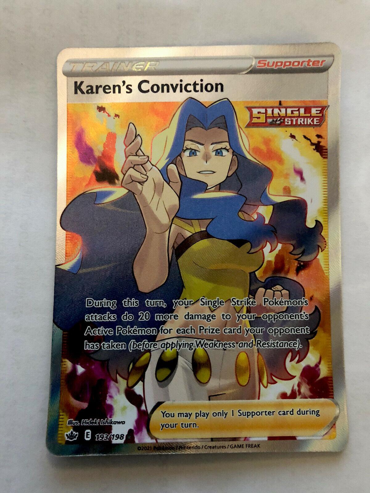Pokemon Chilling Reign: Karen's Conviction (193/198)🔥🔥