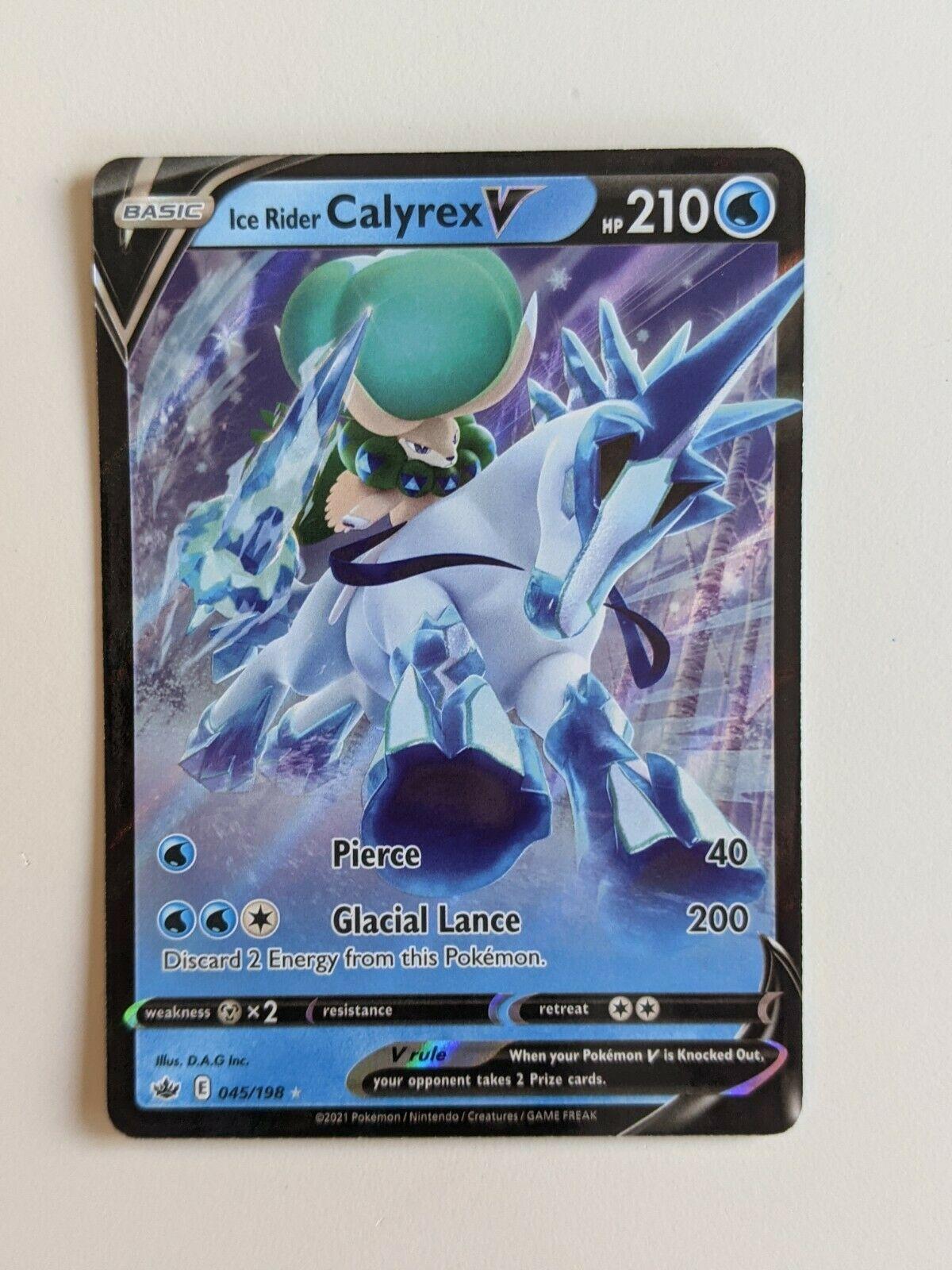 Ice Rider Calyrex V 045/198 Pokémon TCG Chilling Reign Ultra Rare Near Mint