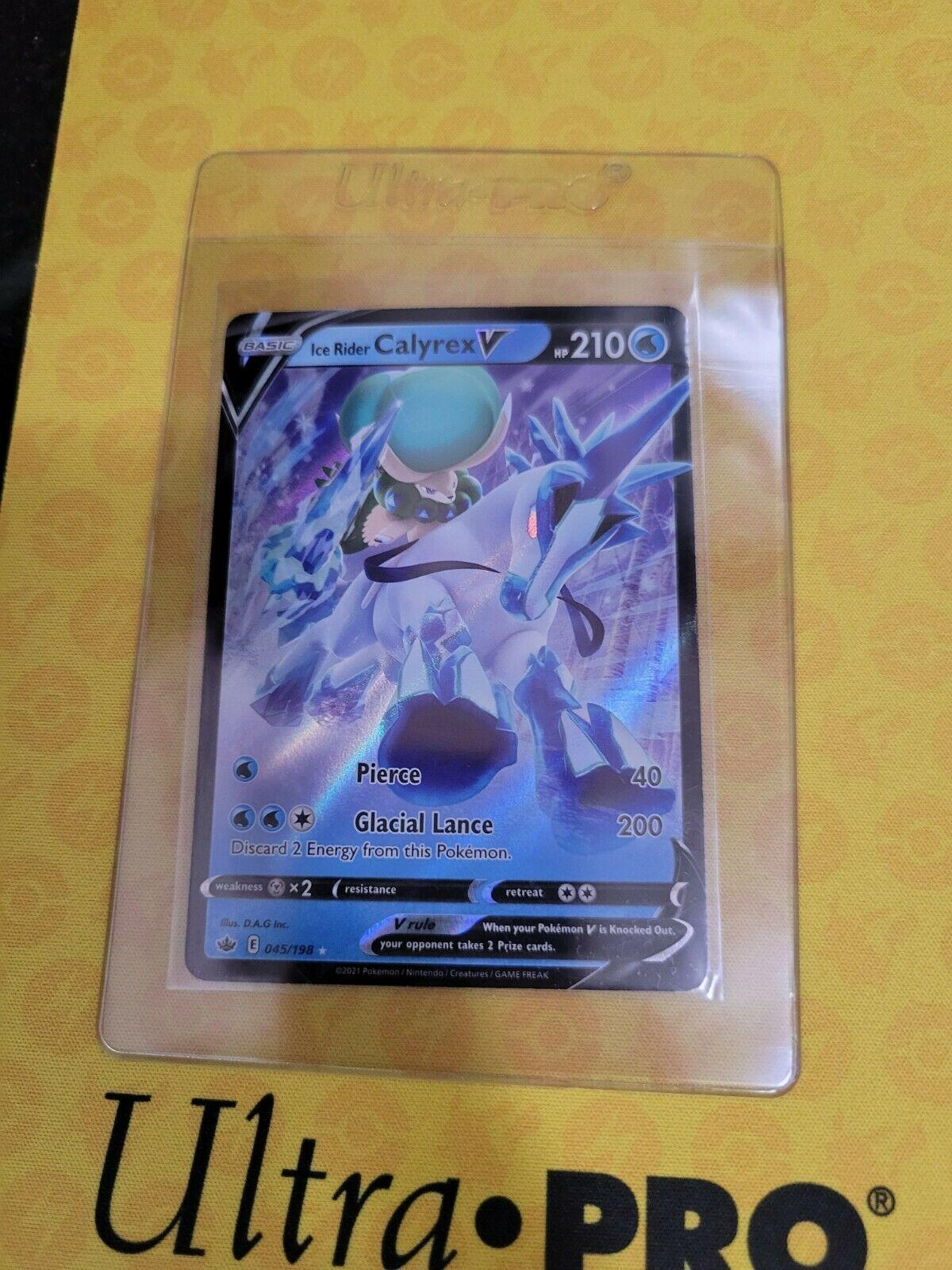 POKEMON (Ice Rider Calyrex V) (045/198) (Chilling Reign) Ultra Rare**