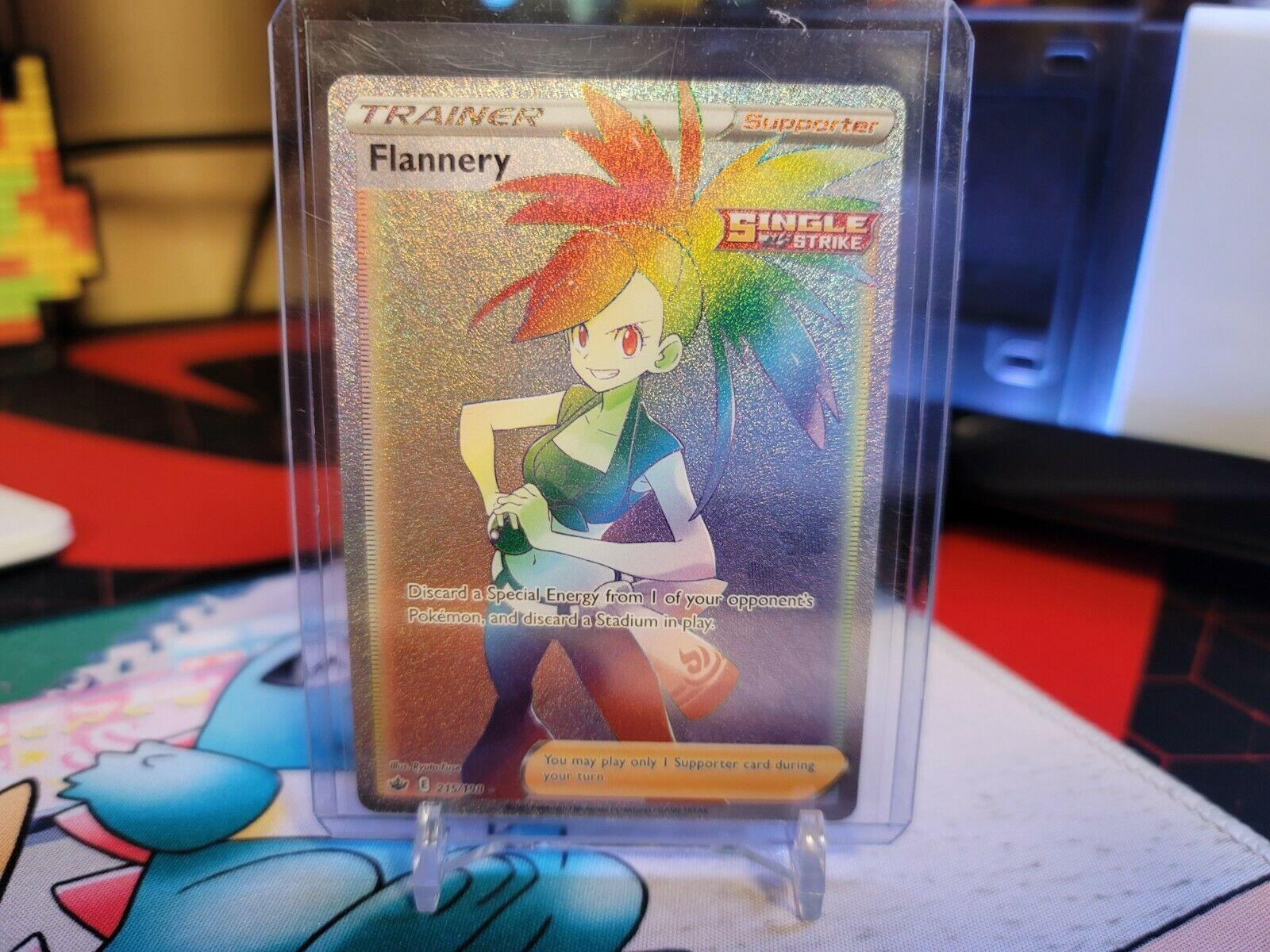 Flannery 215/198 Full Art Secret Rare Rainbow Chilling Reign Pokemon TCG Mint
