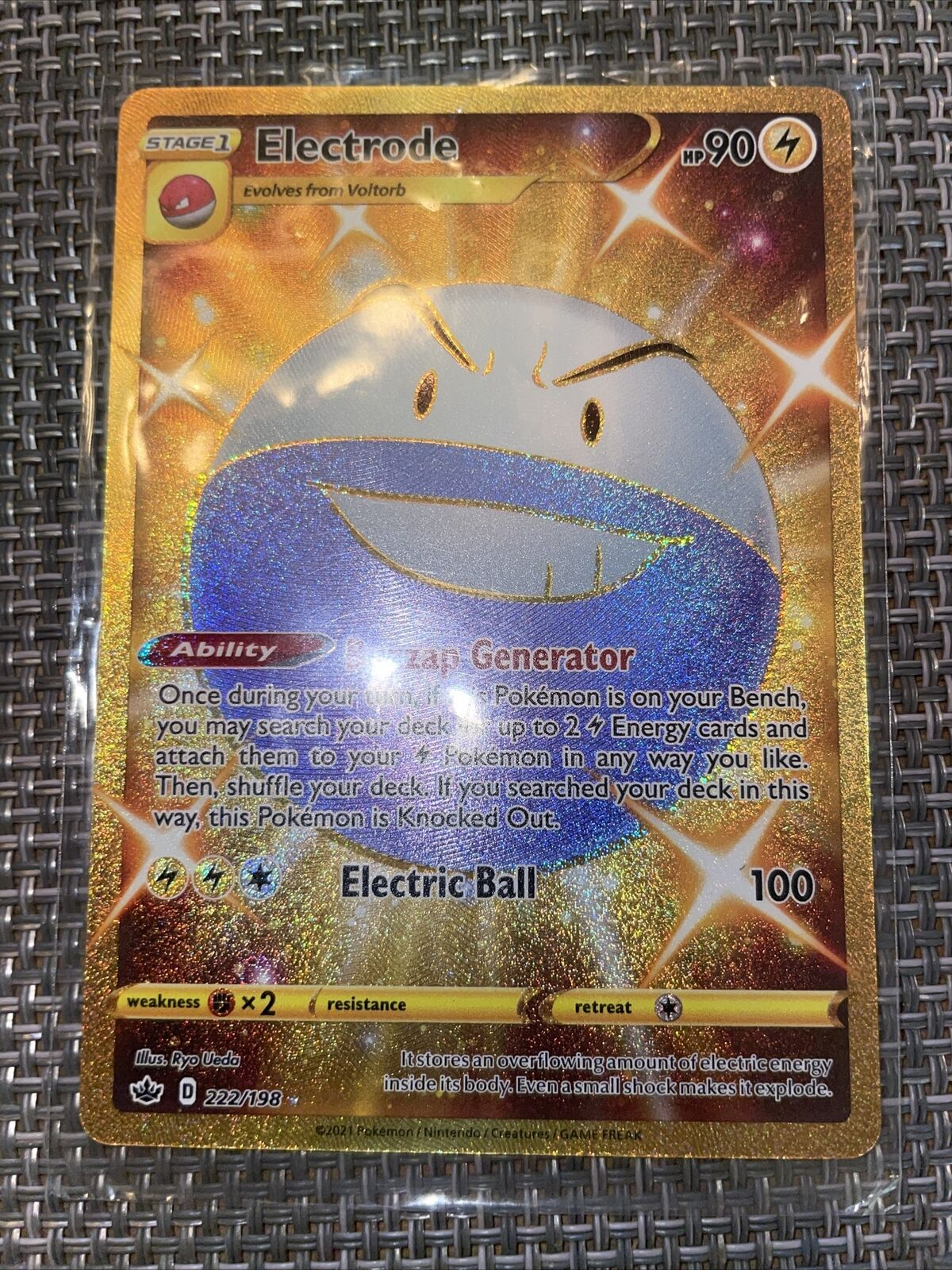 Electrode Shiny Golden-Chilling Reign- English-222/198 M/NM