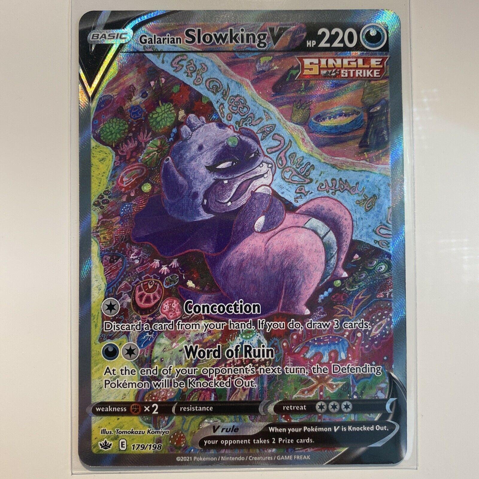 Galarian Slowking V 179/198 Alternate Full Art Chilling Reign Pokemon Mint PSA