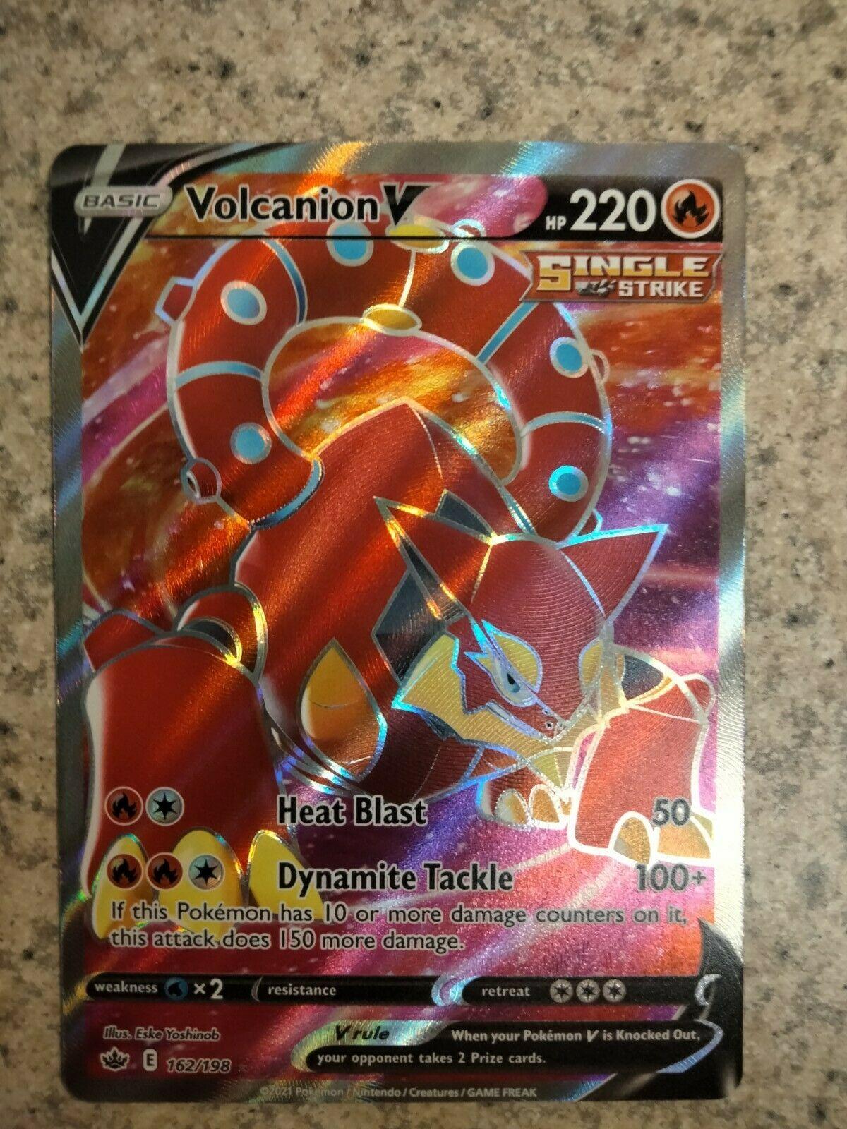 Volcanion V 162/198 ULTRA RARE Holo Foil - Pokemon Chilling Reign near mint