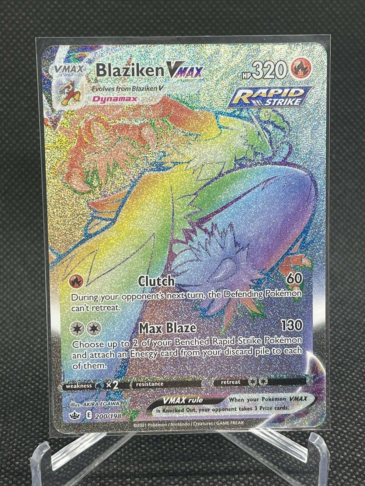 Blaziken Vmax - Secret Rainbow Rare - Pokémon - 200/198 - Chilling Reign - MINT