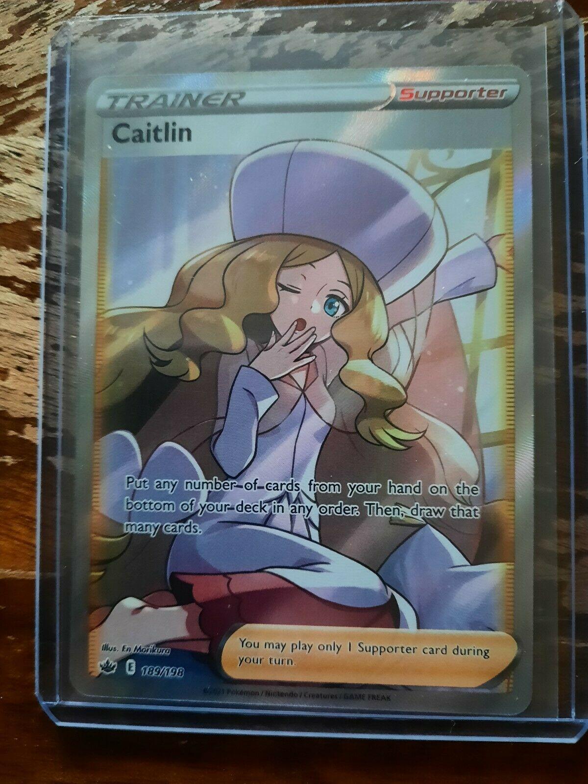 Pokemon TCG Chilling Reign Trainer Caitlin Full Art 189/198
