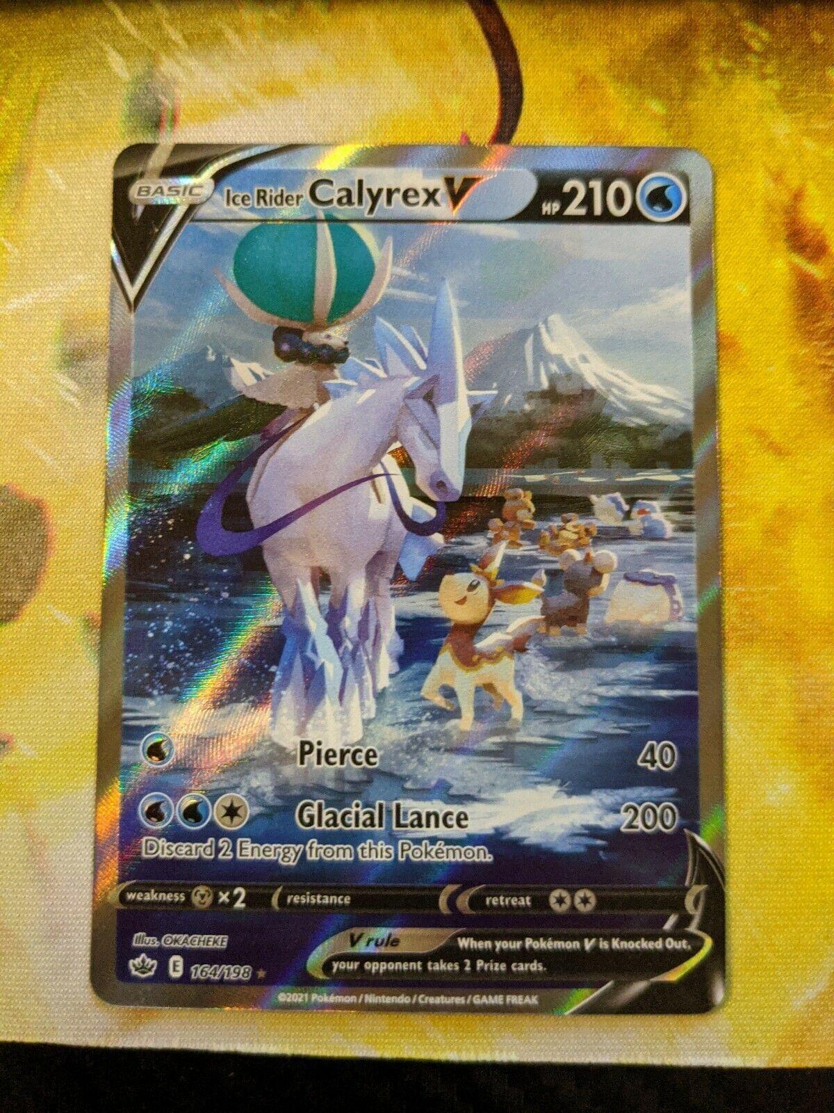 Ice Rider Calyrex V Alternate Art - Chilling Reign 164/198 - English