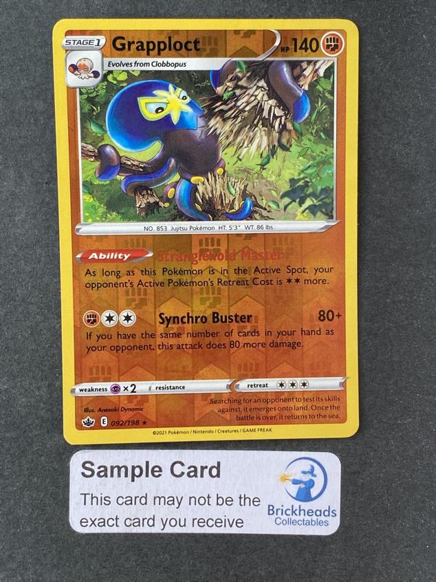 Grapploct 092/198 Reverse Holo | SWSH: Chilling Reign | Pokemon Card