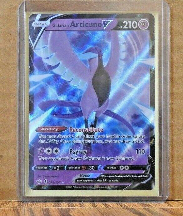 Pokemon Galarian Articuno V Ultra Rare Chilling Reign 058/198 - Image 1