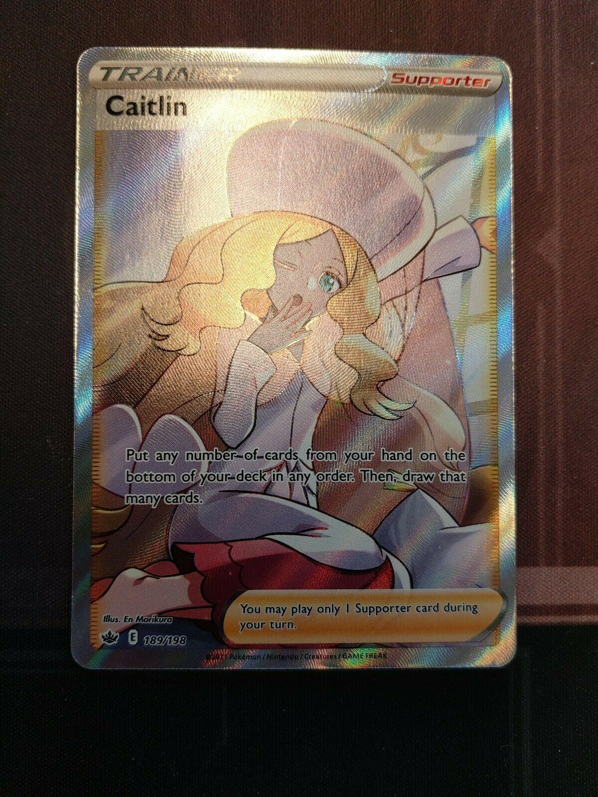 Caitlin Full Art Trainer 189/198 Chilling Reign Pokemon Card NM/M PSA 10 Worthy!
