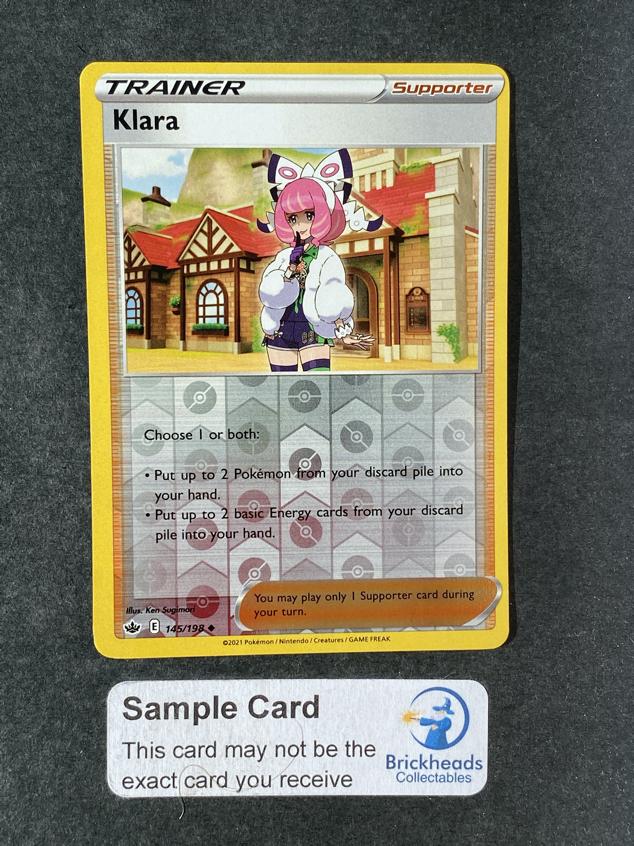 Klara 145/198 Reverse Holo | SWSH: Chilling Reign | Pokemon Card