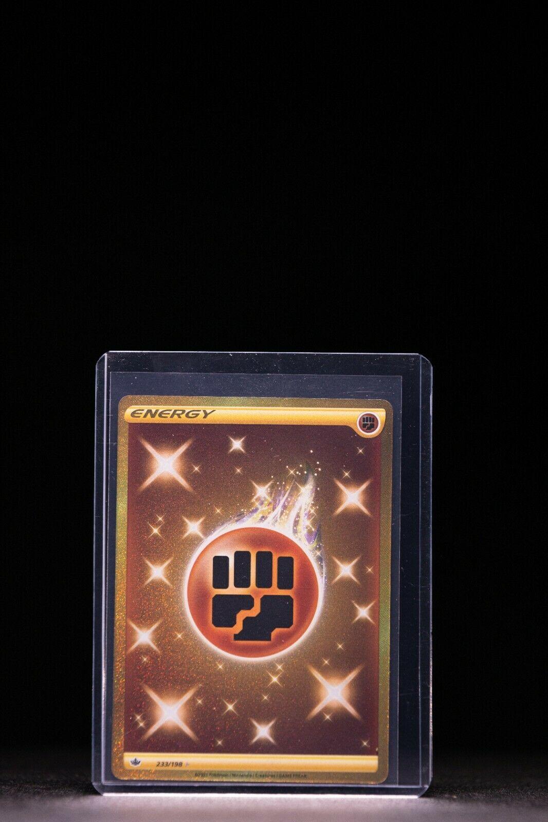 Pokemon TCG Chilling Reign GOLD FIGHTING ENERGY SECRET RARE 233/198