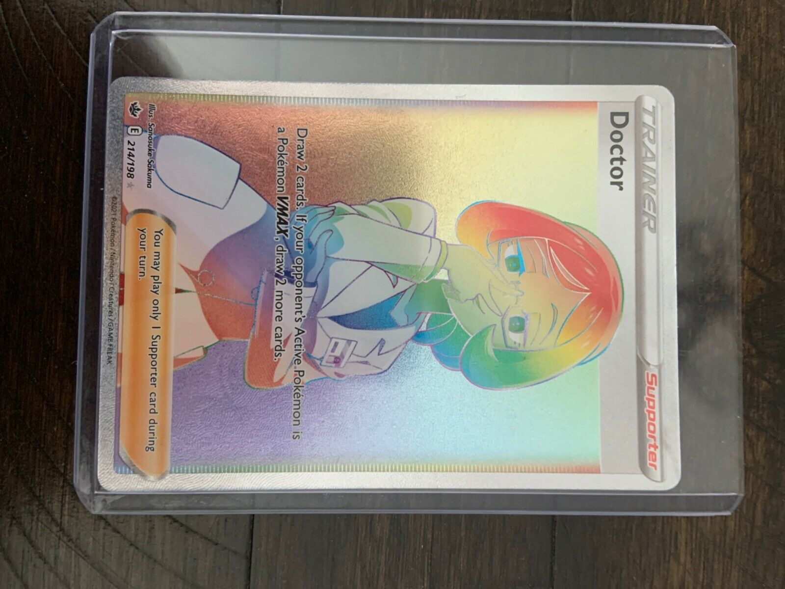 Pokemon Chilling Reign Doctor 214/198 Rainbow Rare FRESH PULL