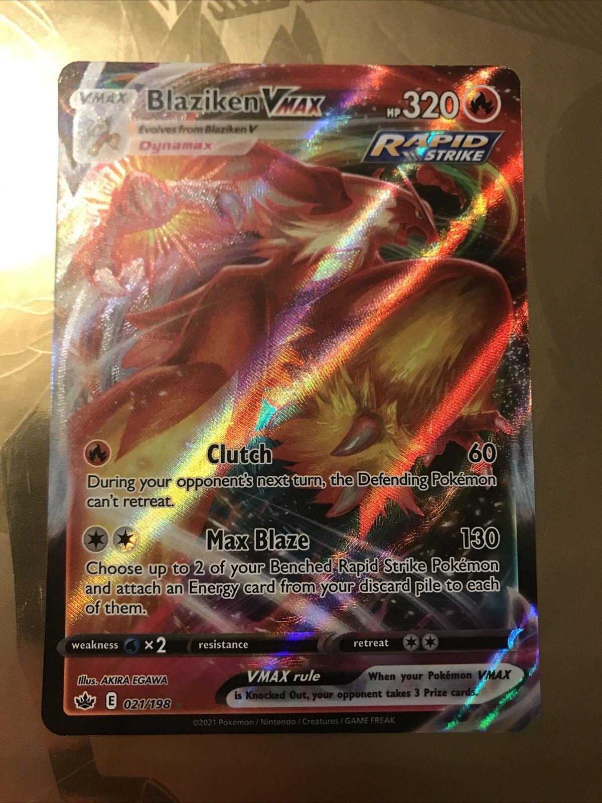 Blaziken VMAX 021/198 Pokémon TCG Chilling Reign Full Art Ultra Rare Near Mint - Image 1