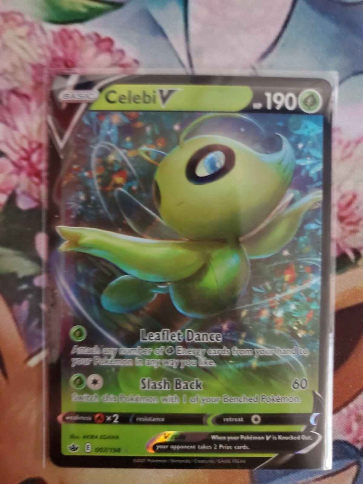 Celebi V - 007/198 - Ultra Rare Pokemon SS06 Chilling Reign M/NM
