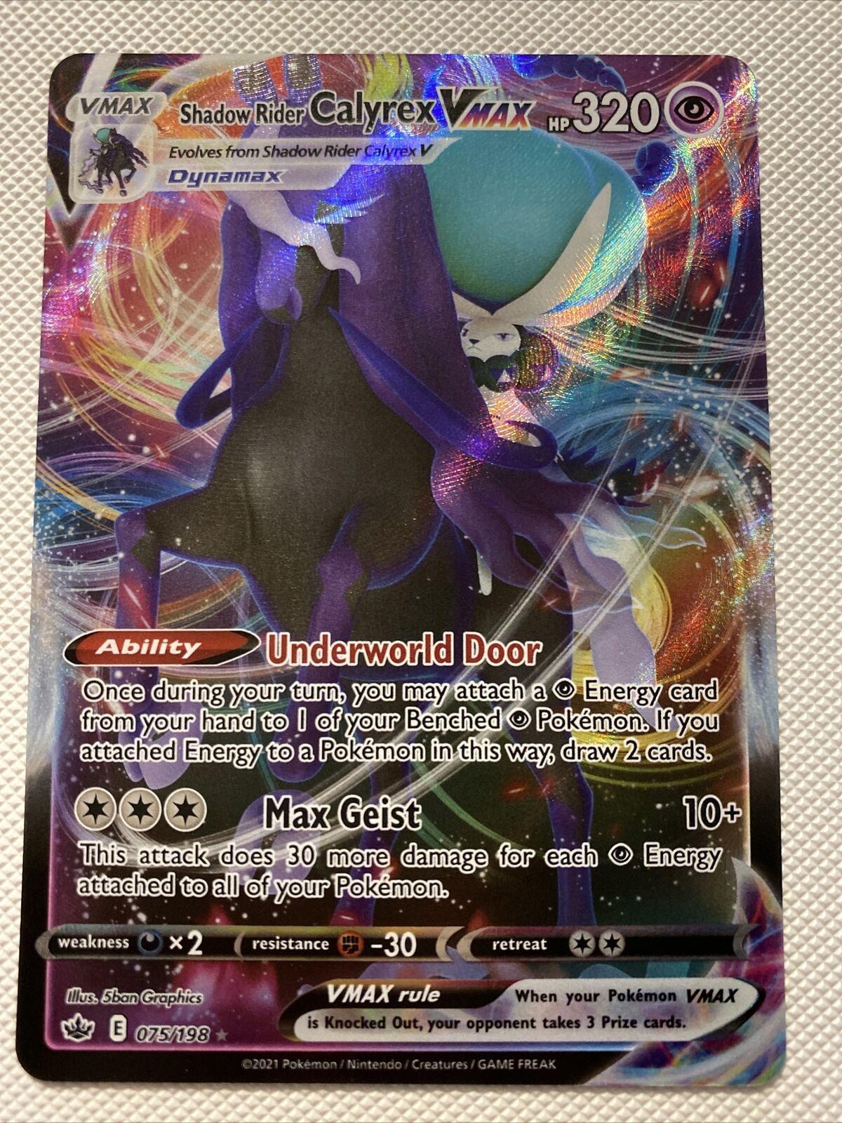Shadow Rider Calyrex VMAX 075/198 Pokemon Chilling Reign Ultra Rare Mint