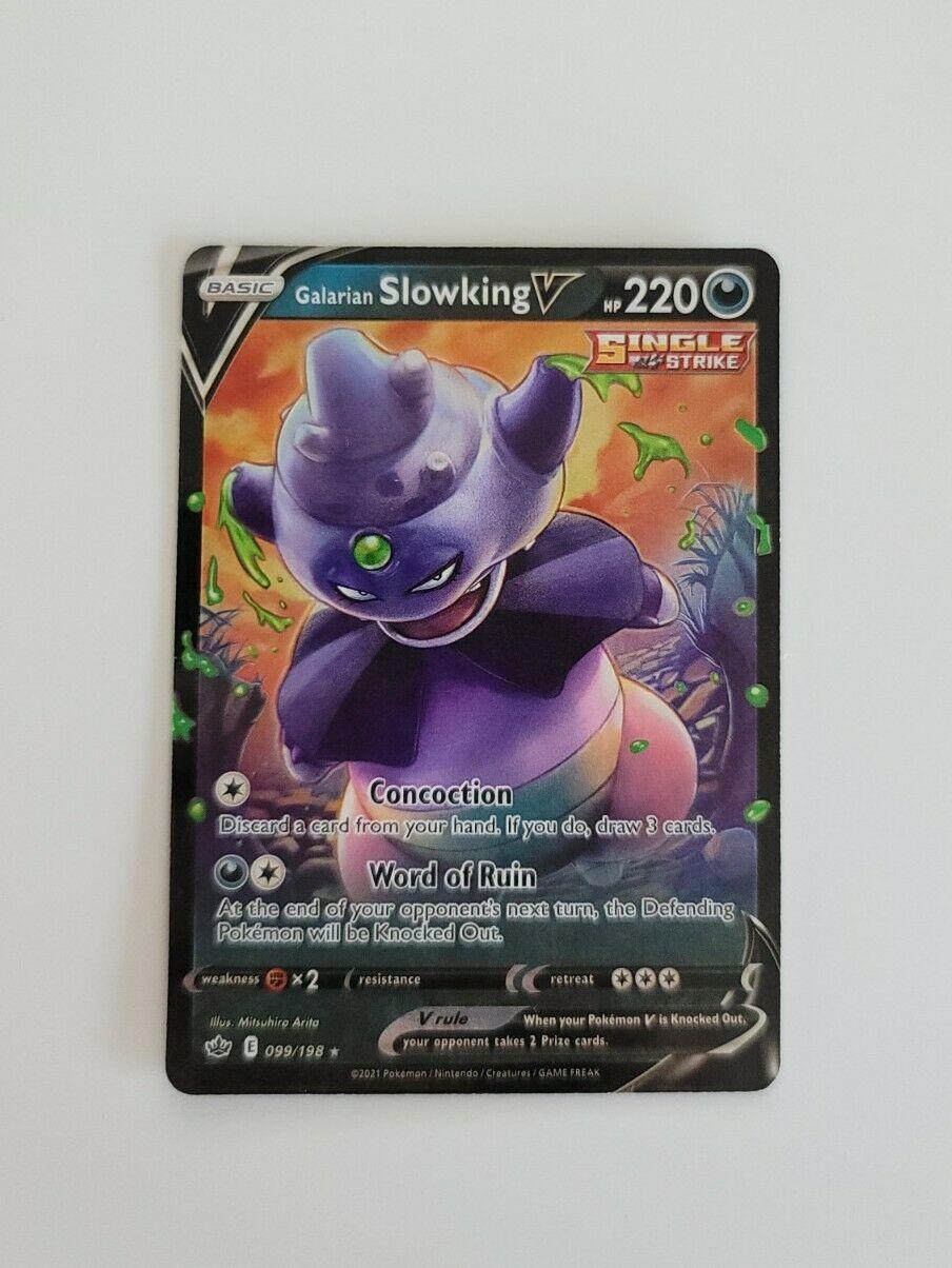 Pokemon Card - Galarian Slowking V 099/198 Holo Rare Chilling Reign - M/NM