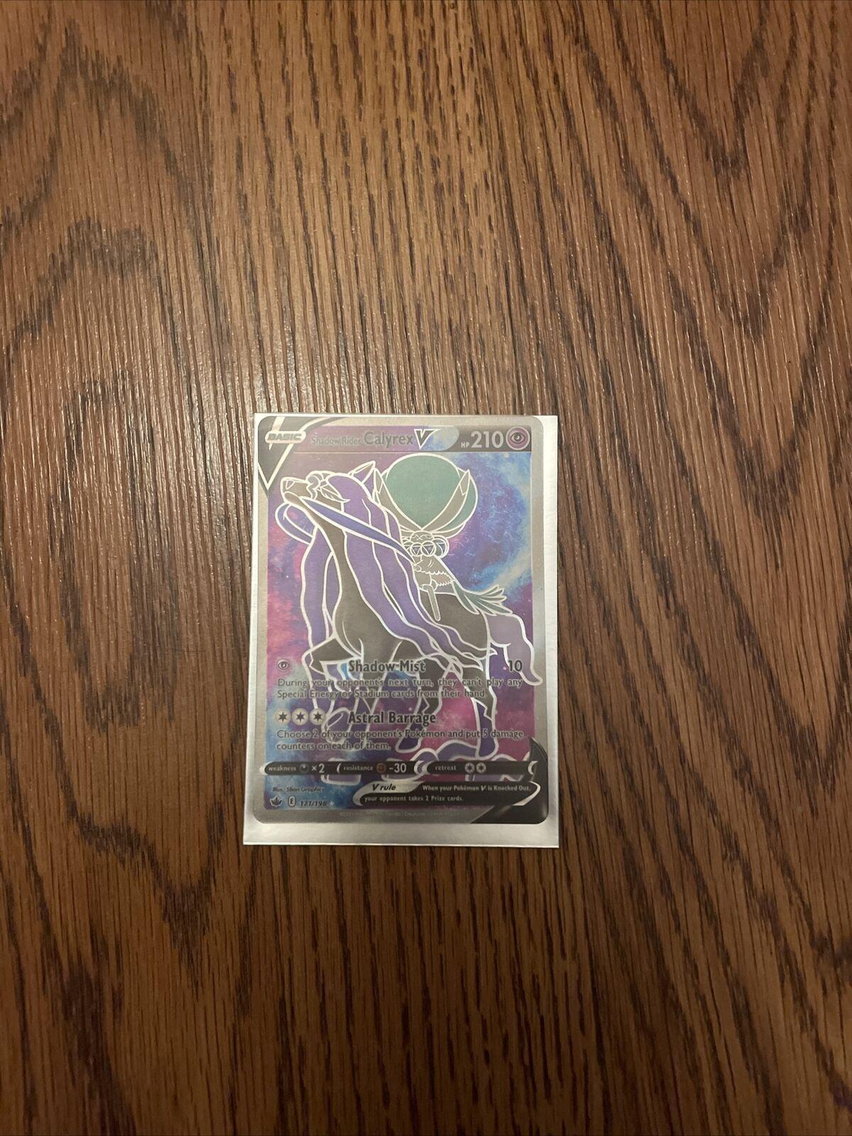 CHILLING REIGN : Shadow Rider Calyrex V 171-198 - FULL ART Mint
