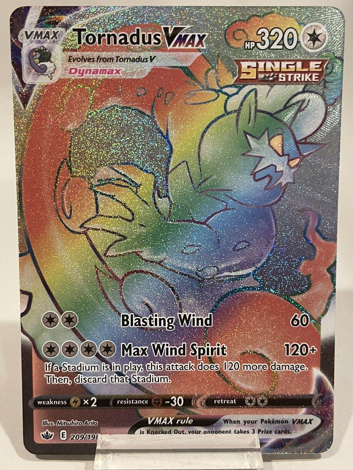 Tornadus VMAX 209/198 Secret Rainbow Rare Holo Pokemon Chilling Reign NM