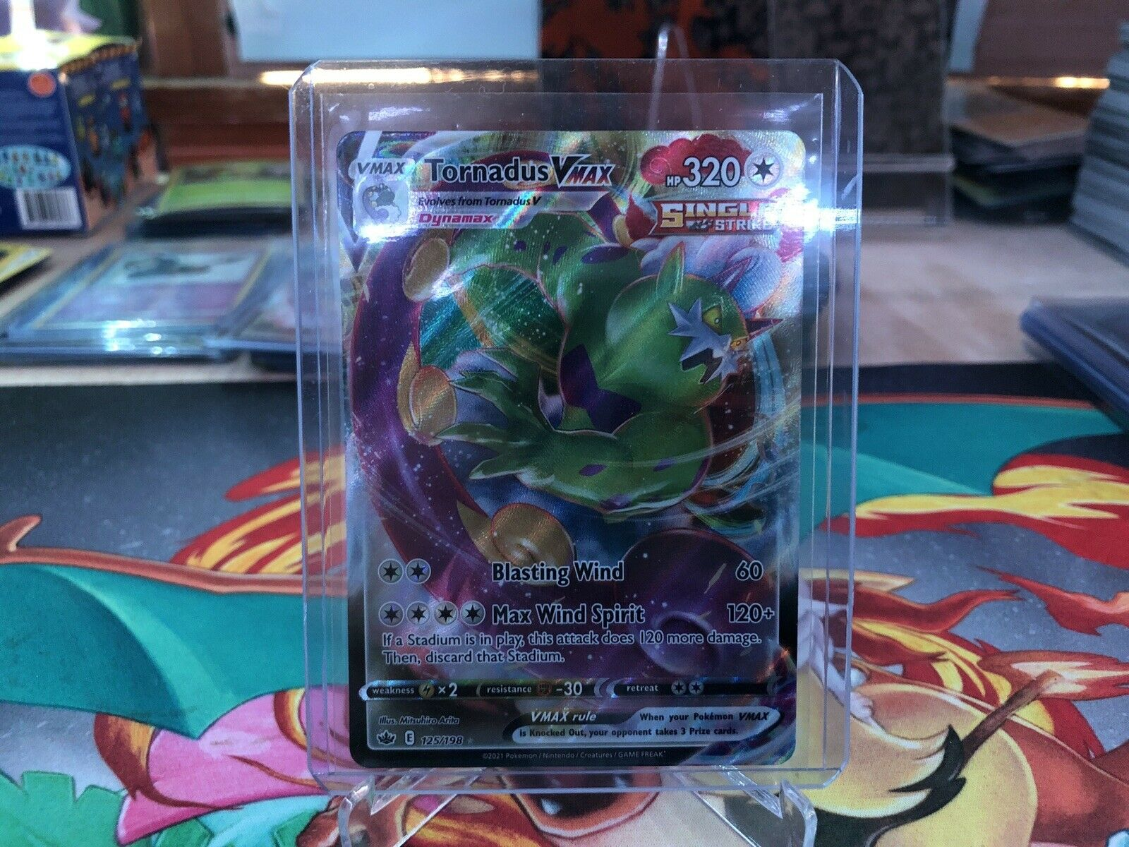 Tornadus VMAX Chilling Reign Pokemon Card 125/198