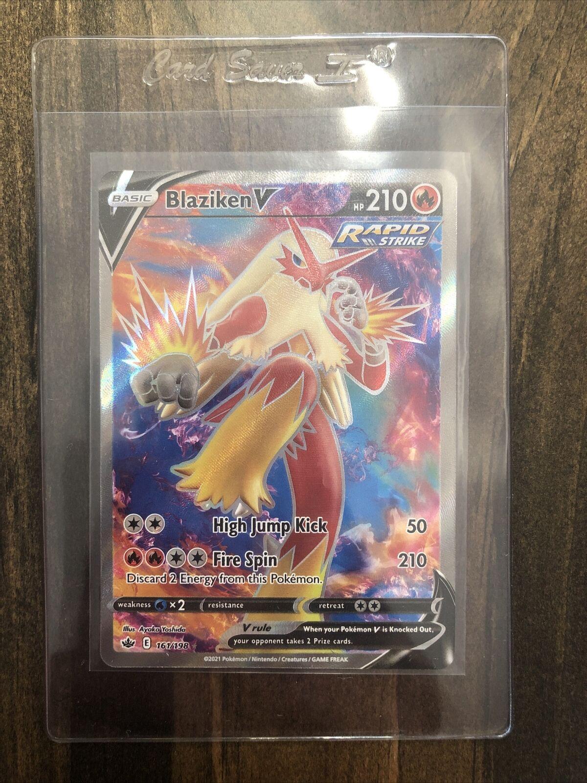 Blaziken V 161/198 Pokémon TCG Chilling Reign Full Art Ultra Rare Near Mint ✅