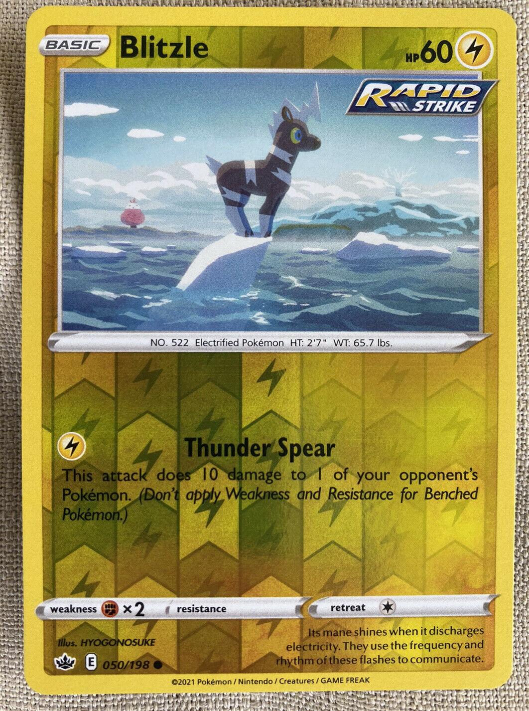 Pokemon Chilling Reign Blitzle Reverse Holo 050/198 - NM